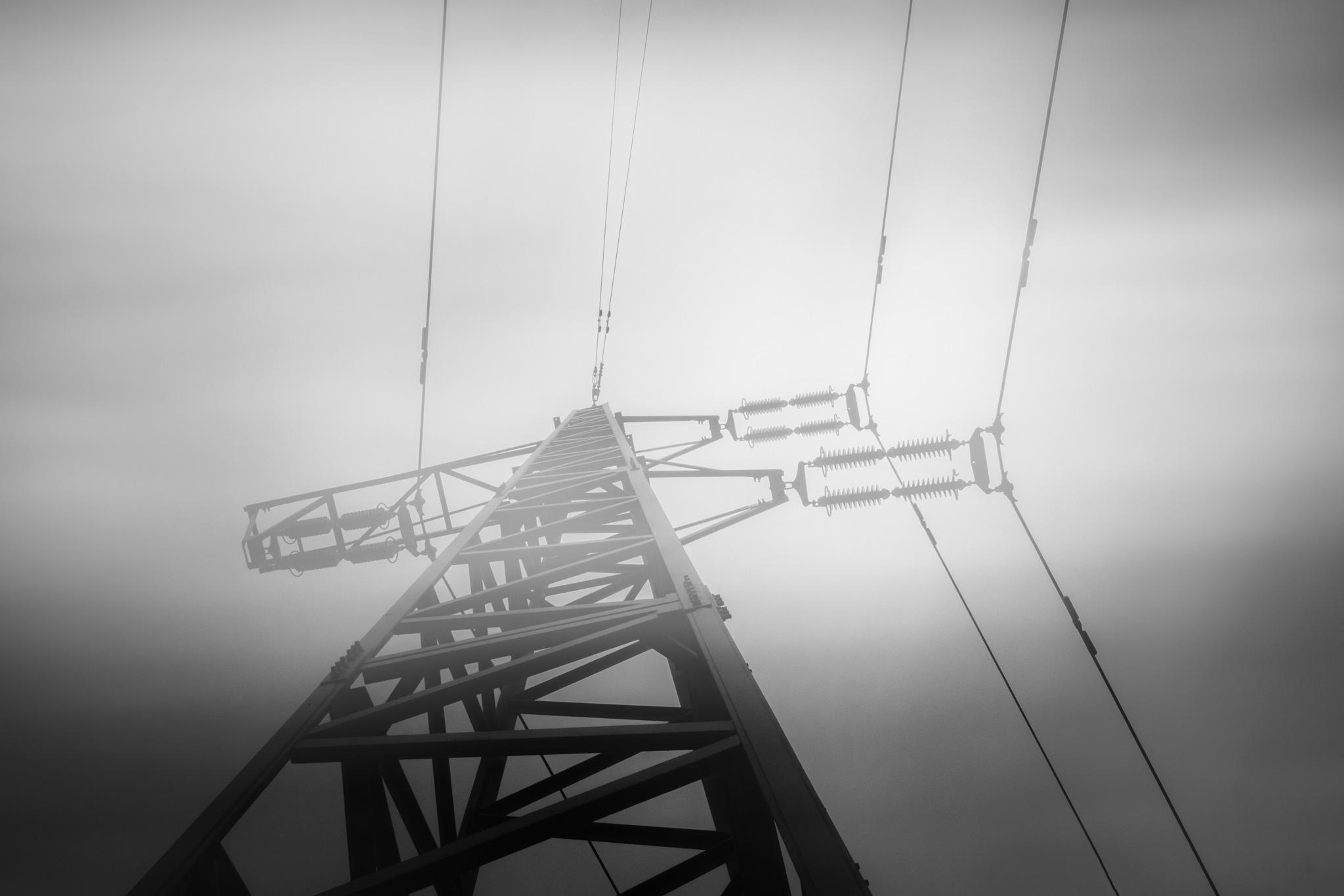 Power lines by Michael B. Rasmussen