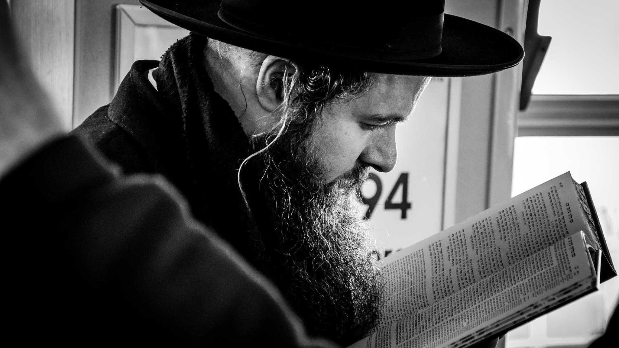 Photo in Black and White #big apple #nyc #manhattan #nikon #d7000 #subway dude #read #subway #black & white #b&w #new york #reidar murken #usa #monokrom #70mm #2011