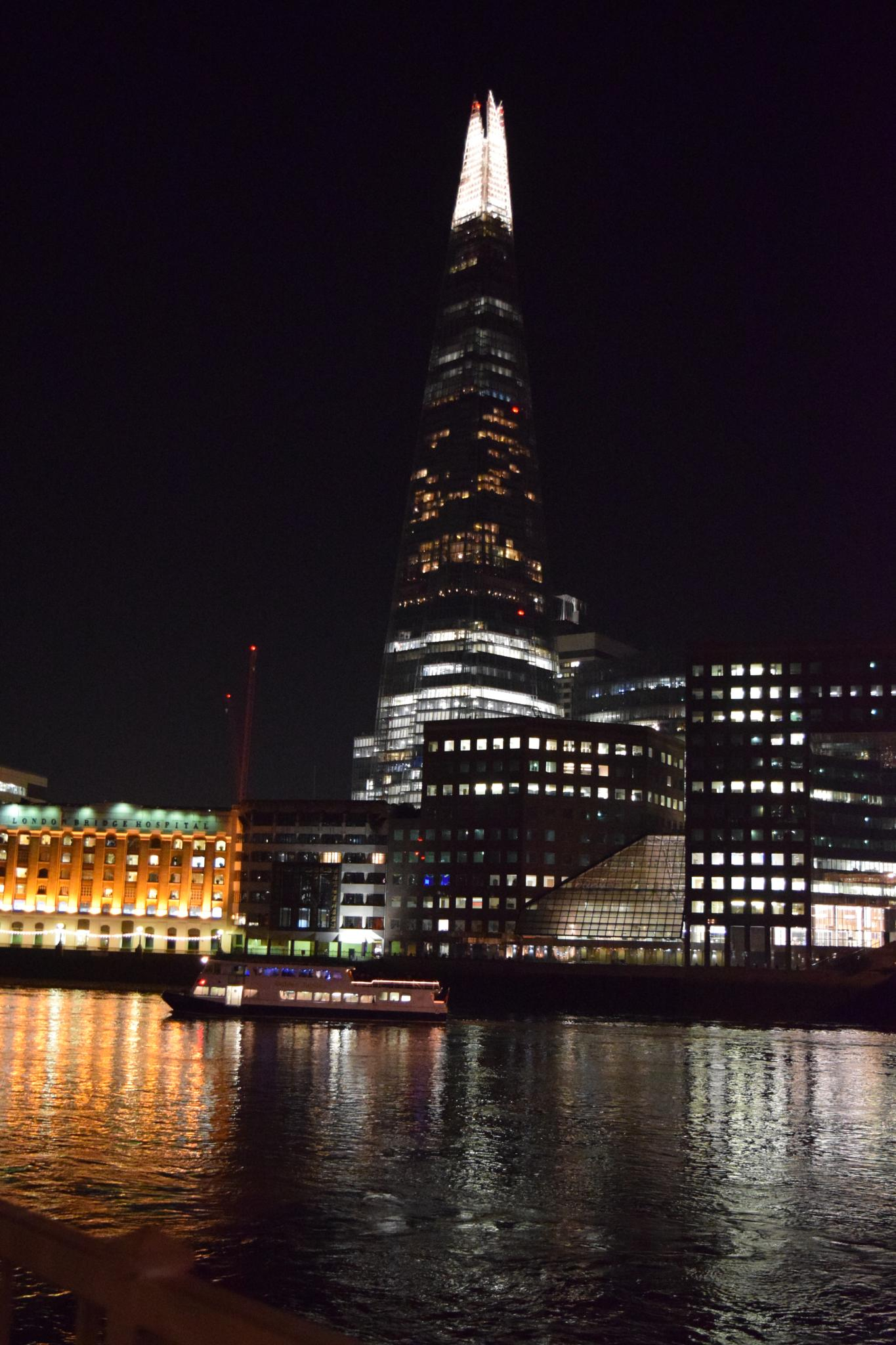 The Shard at night by Gwynboyo