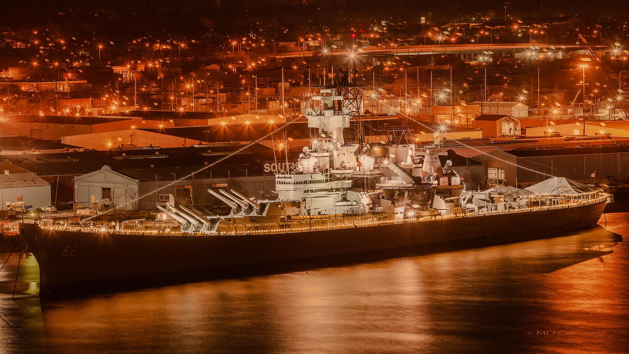 The New Jersey at Night by Michael Cox