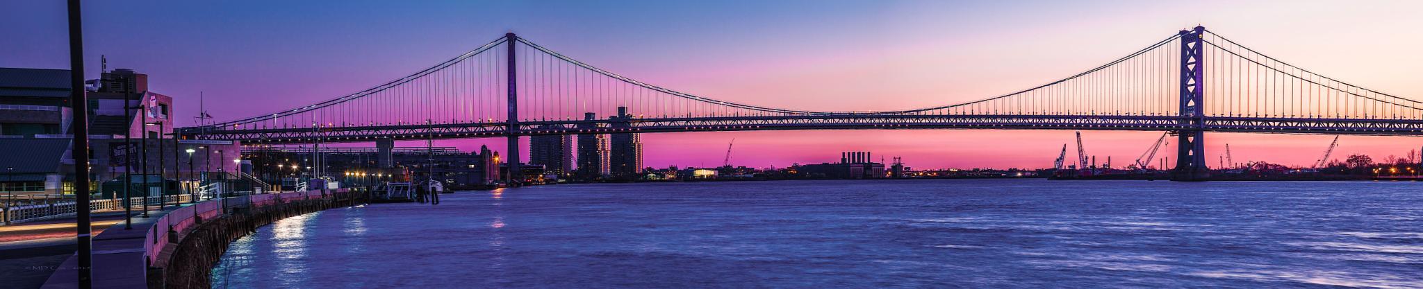 Benjamin Franklin Bridge by Michael Cox