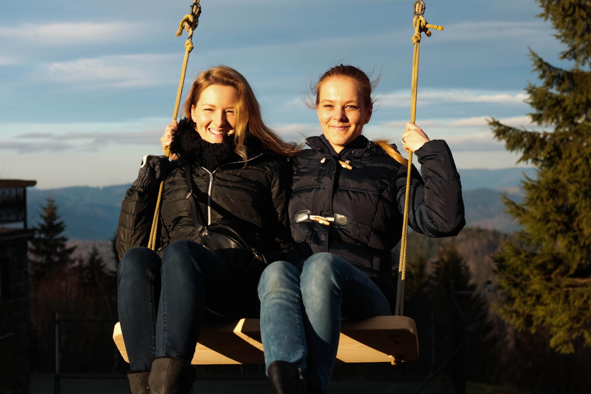 Photo in People #happy #happiness #friends #fun #winter #swing #saski :) #smiling