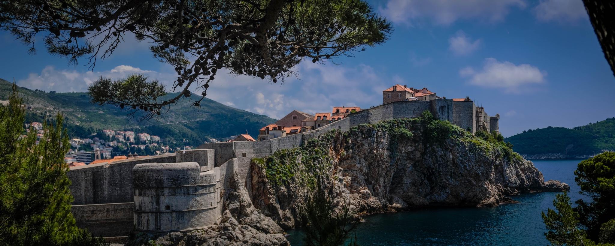 Photo in Cityscape #dubrovnik #croatia #panorama #sunshine #sea #coast #defences #city #architecture #travel #europe #balkans