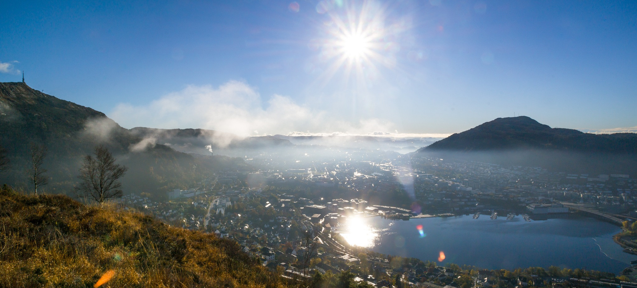 Haze Over Bergen by MjollnirMacAlba