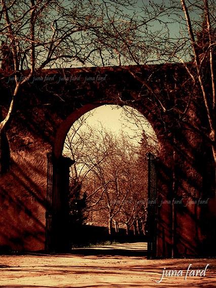 #gate of cartuxa ( #closure ) under aqueduct #photo_by_juna_ fard by juna fard