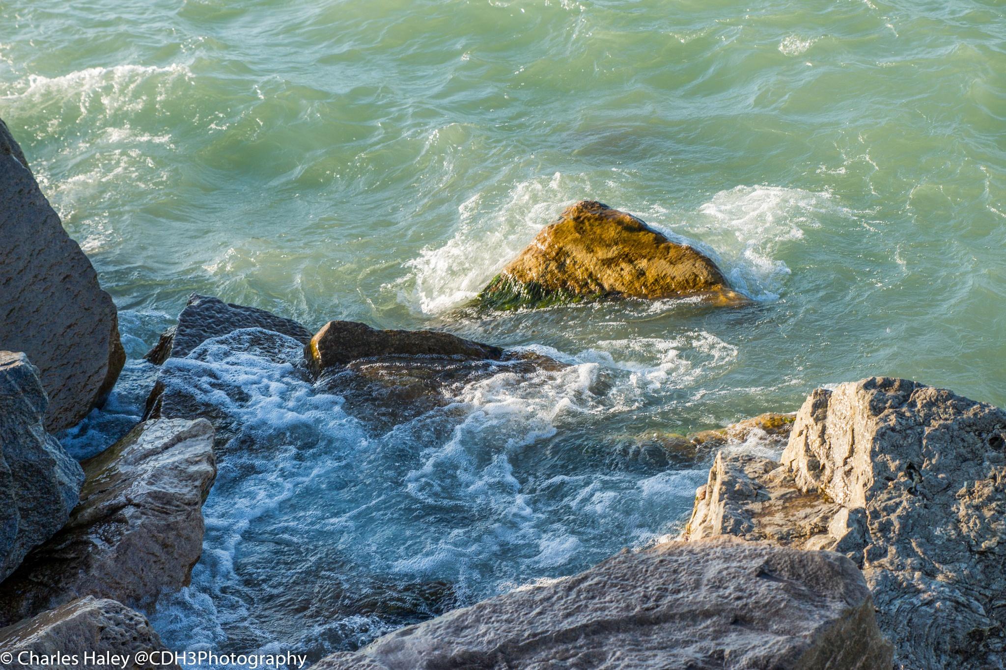 Beautiful Rocks near Lake Michigan by CDH3Photography