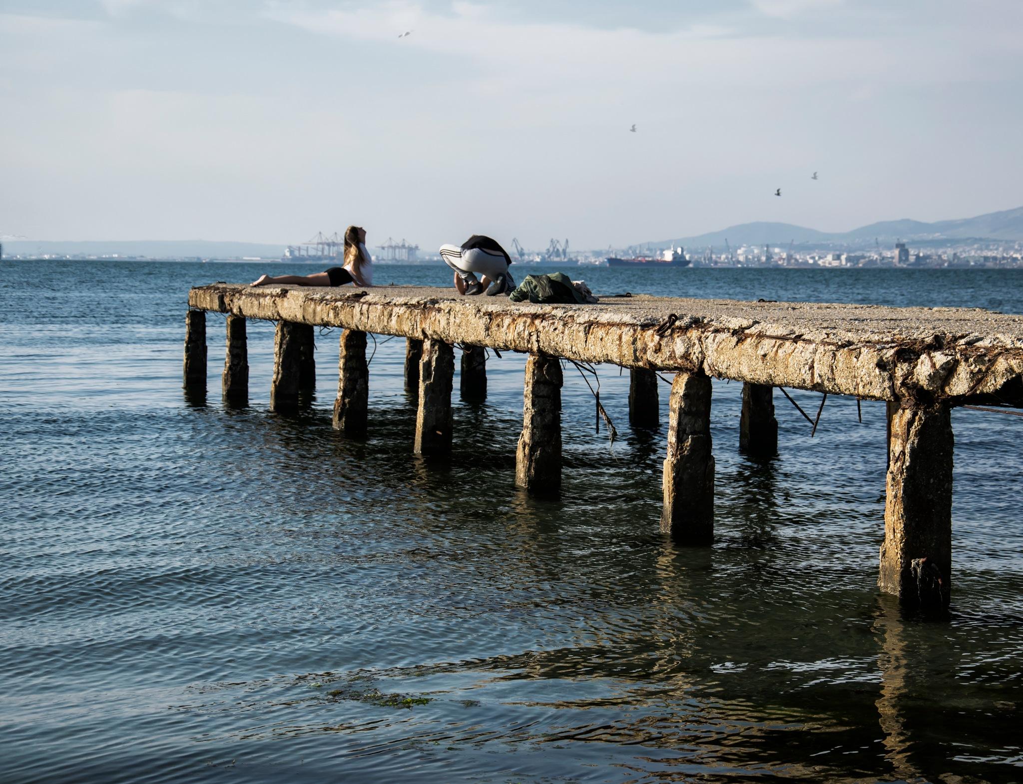 Gymnastics at pier by katerinaxatziavramoglou