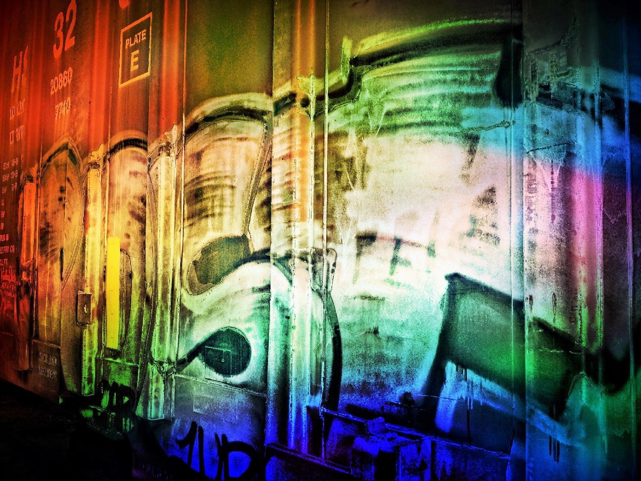 Graffiti on Rail Cars IIII by ISBAT01