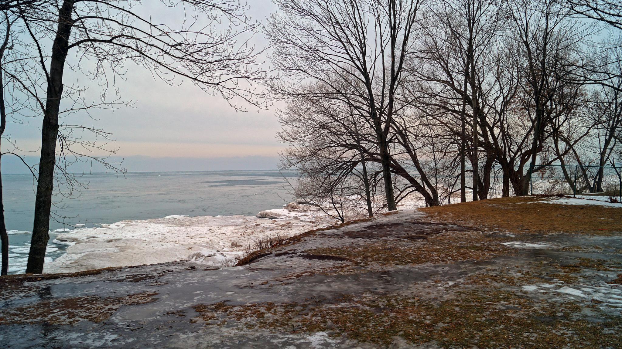 Ice locked Beach by davidtrwilliams