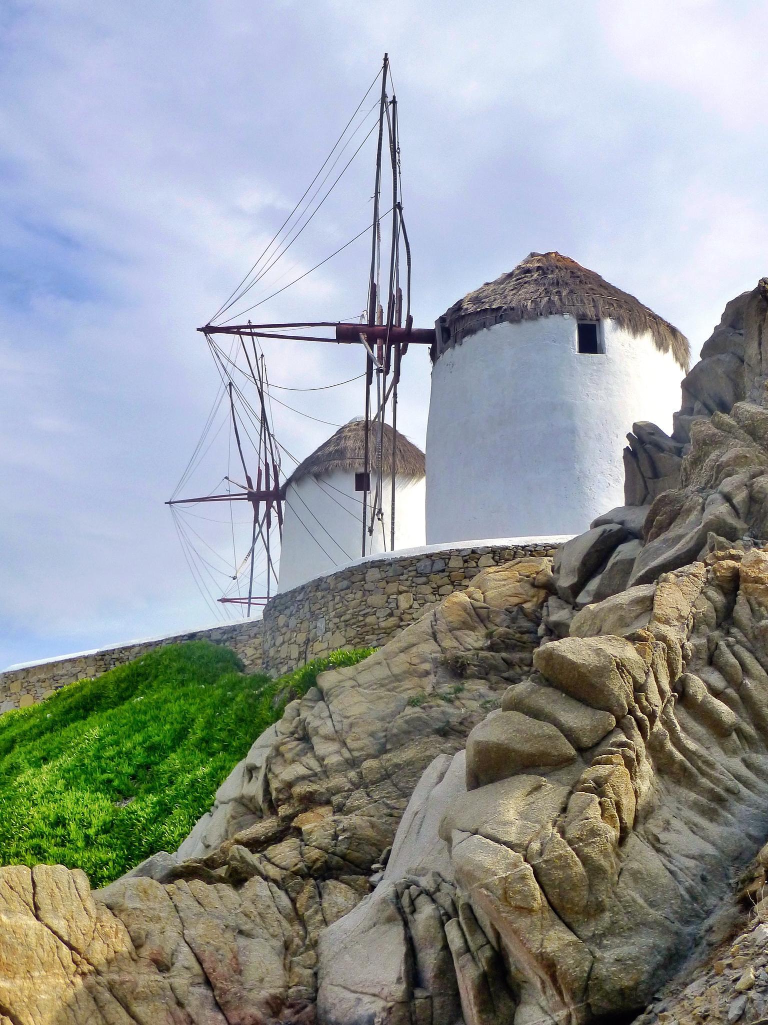 Mykonos Windmills by TonyH