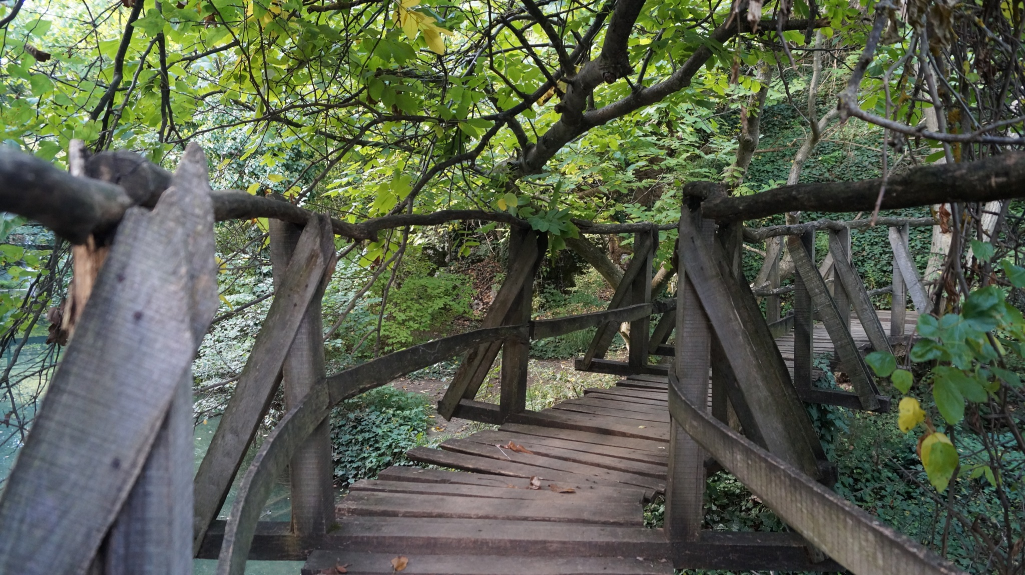 Crooked Wooden Bridge by Airene
