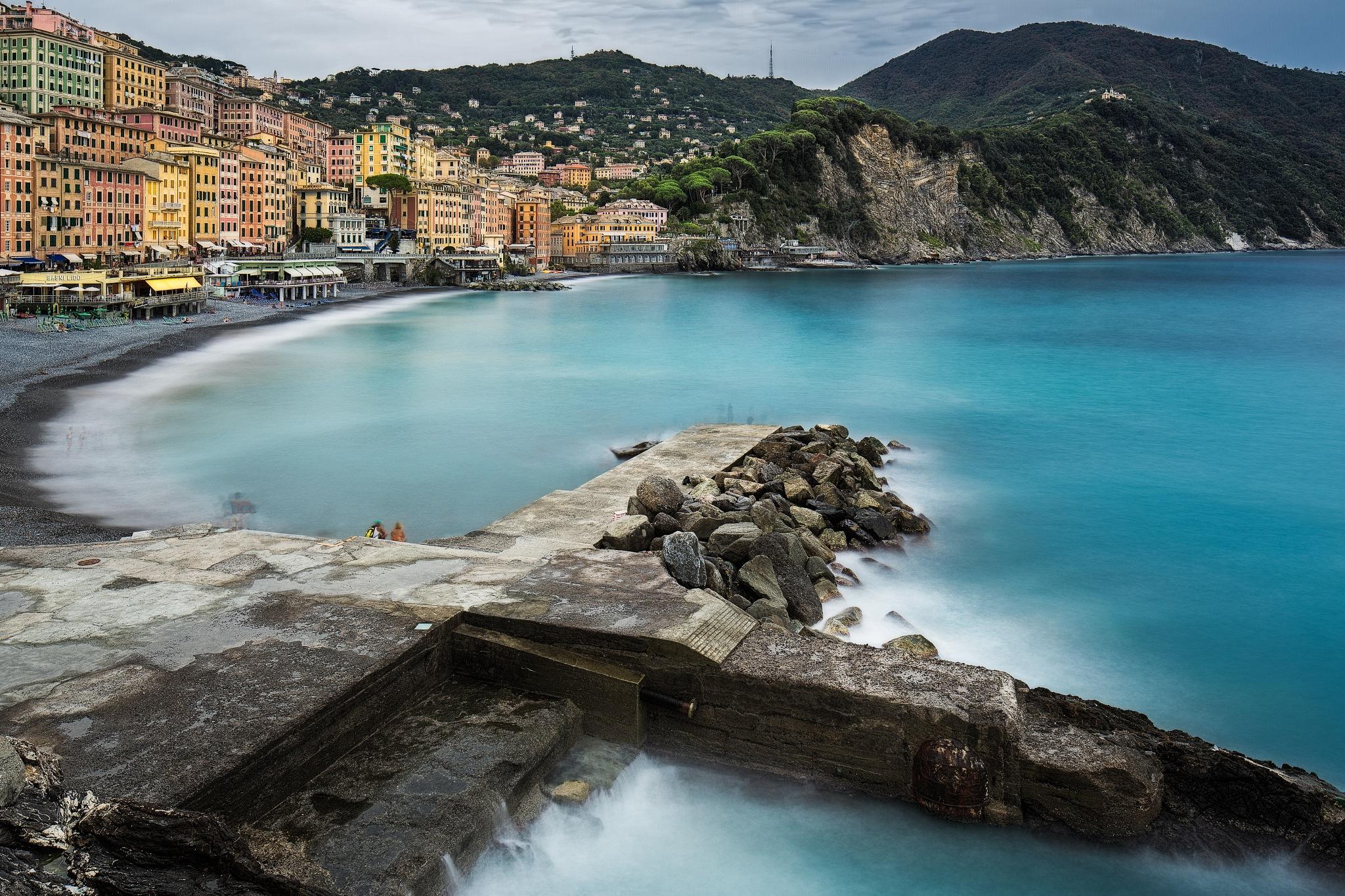 Camogli Jetty And Beach by Paul Richards