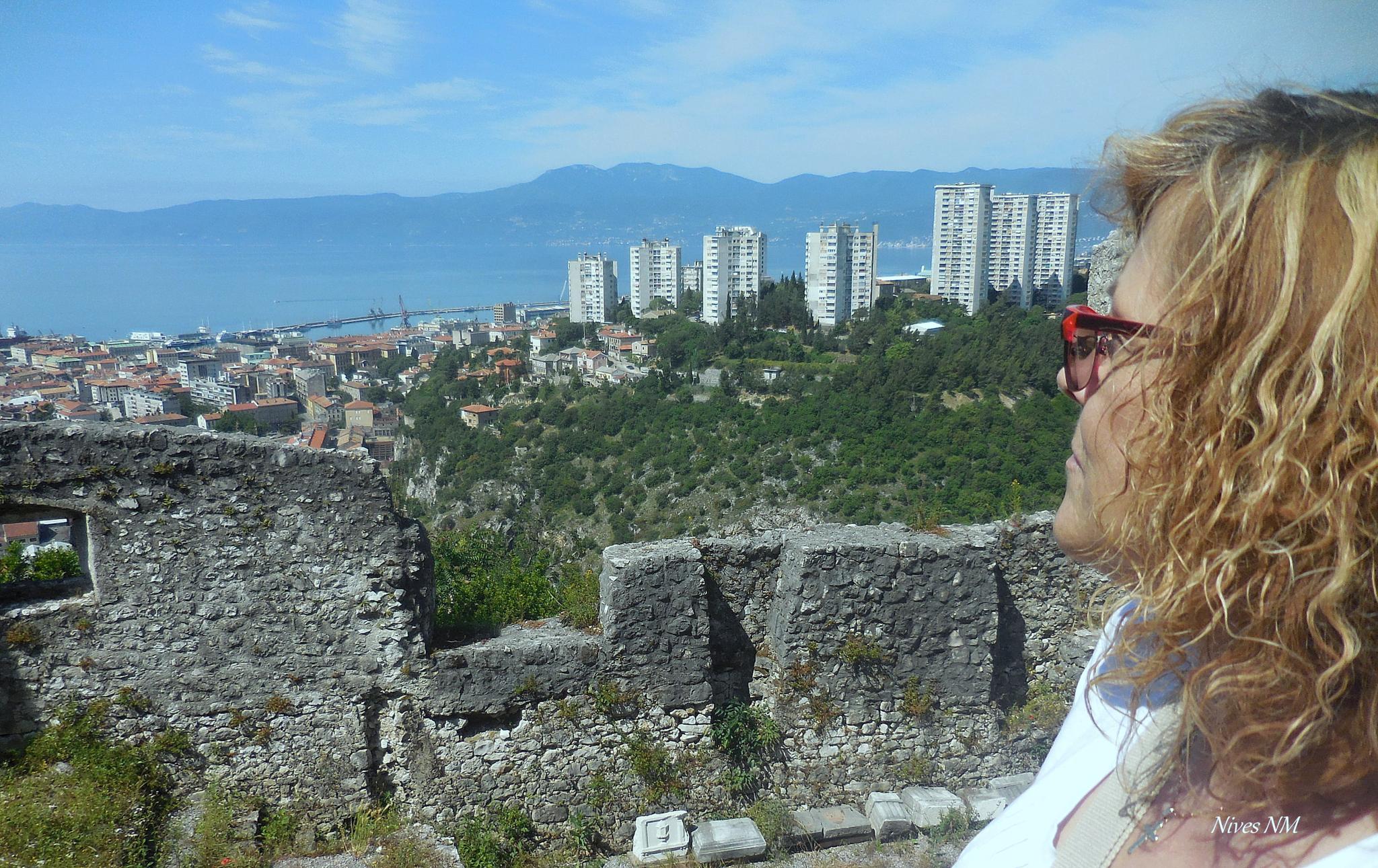 one selfie....and town Rijeka, Adriatic sea, Croatia by nives.n.marusic