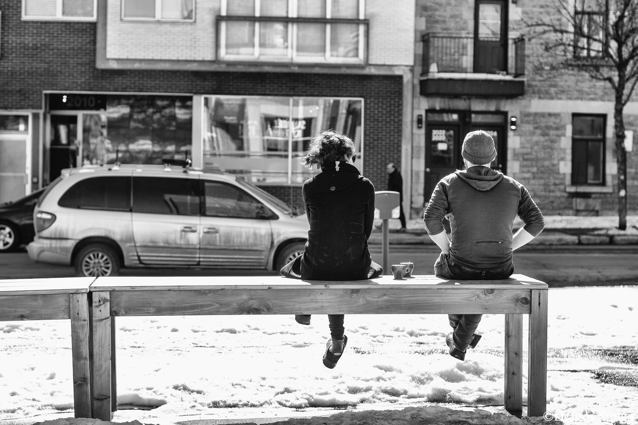Conversation Over Coffee...And Snow  by dragos.stoic