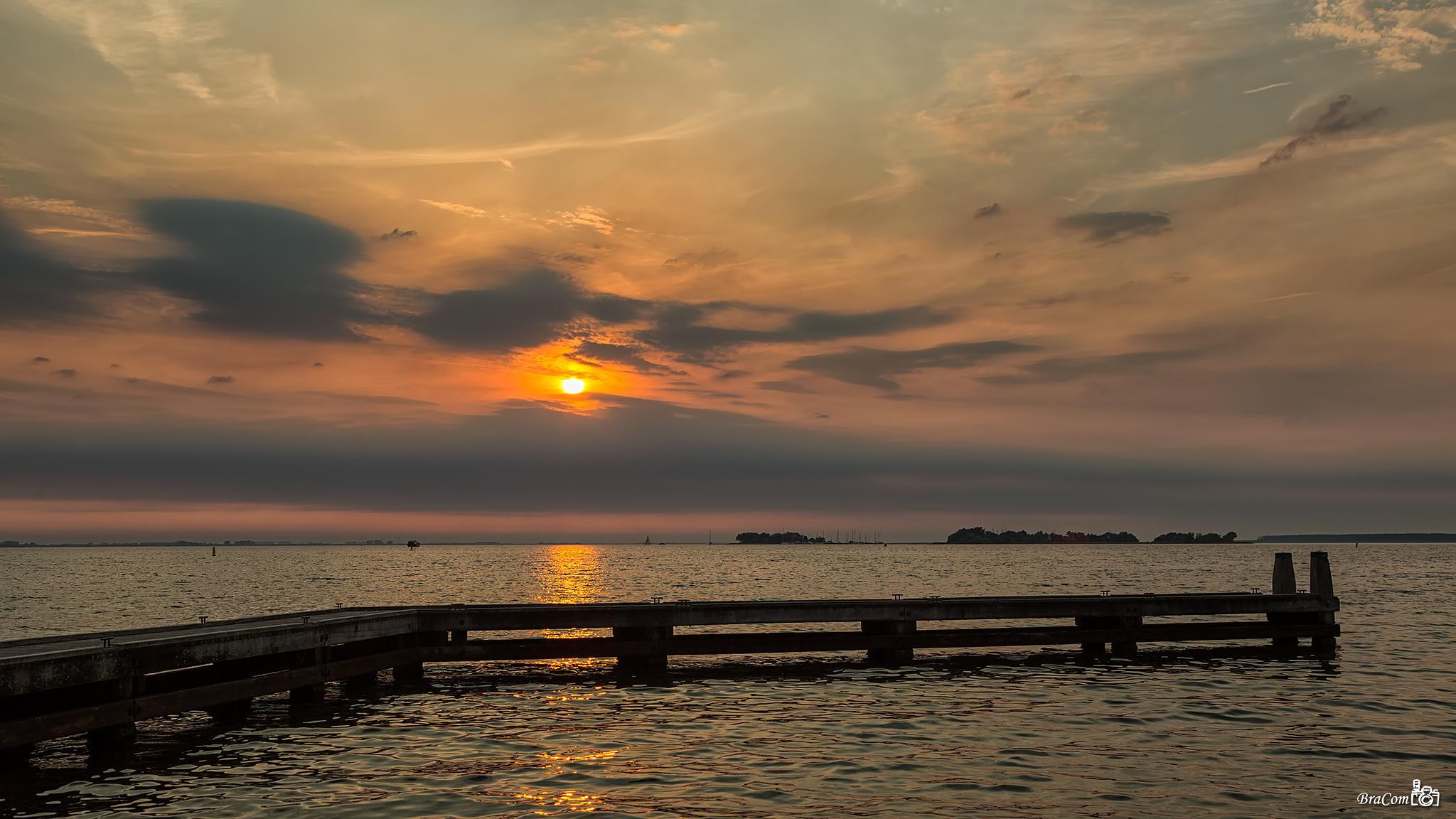 Sunset Grevelingen by Bram van Broekhoven