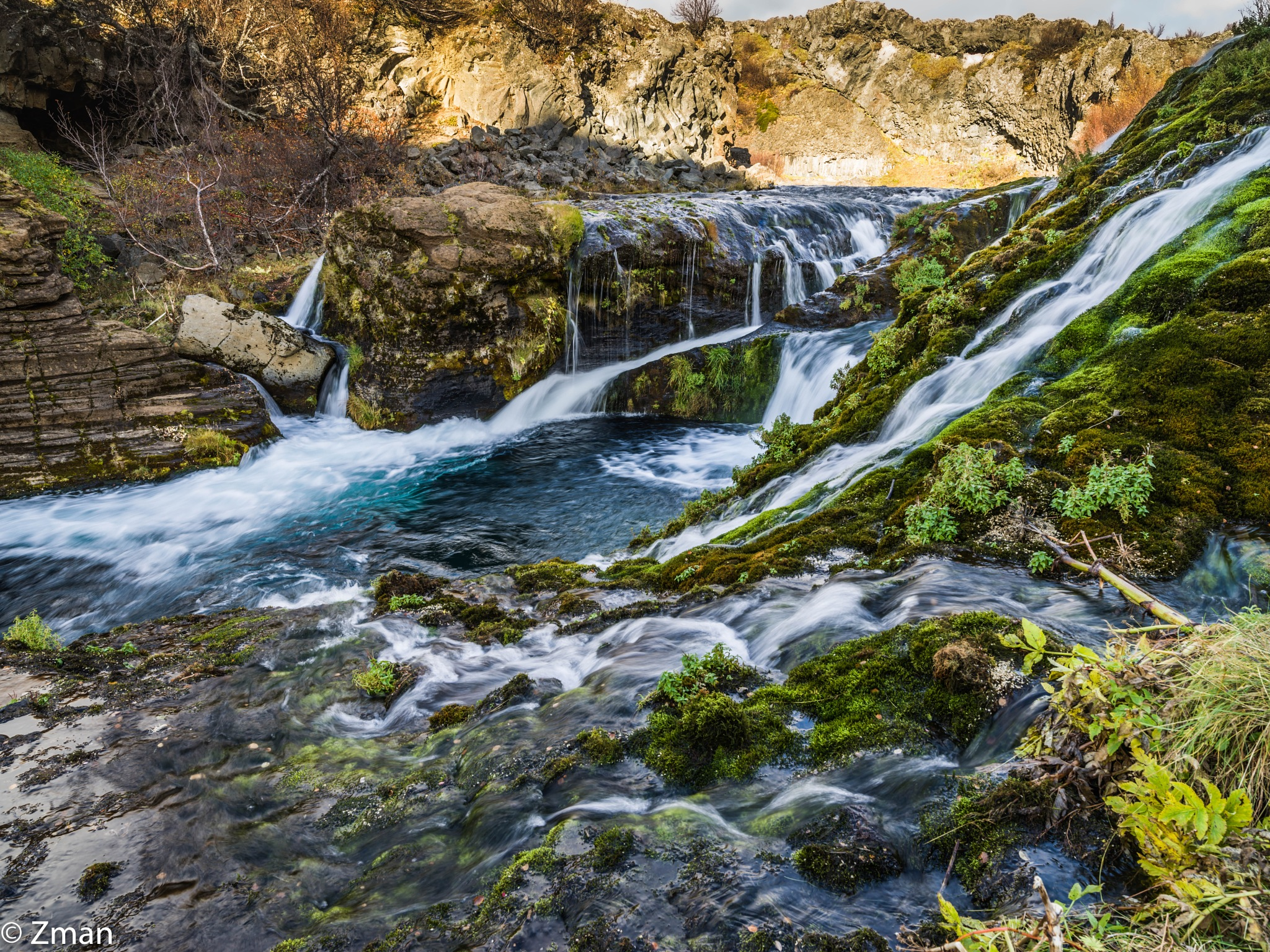 The Green Gorge and Waters of Gjáin. by muhammad.nasser.963