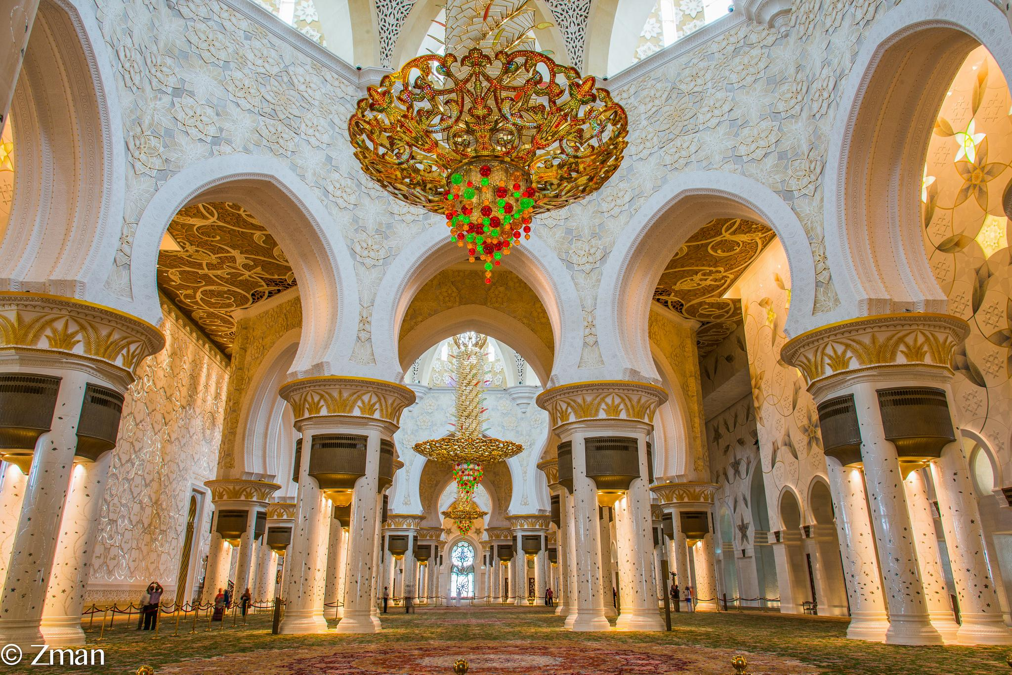 Main Prayer Room of Shk. Zayed Mosque by muhammad.nasser.963