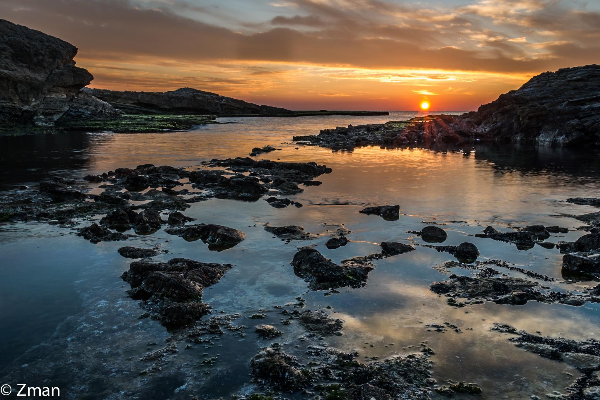 Sunset At Al Rawshe Rocks 03 by muhammad.nasser.963