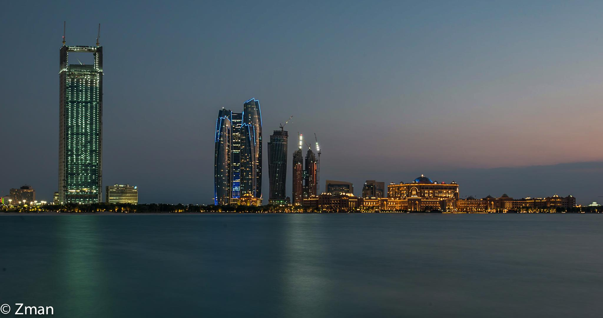 Union Towers, ADNOC HQ and The Conference Palace Hotel by muhammad.nasser.963