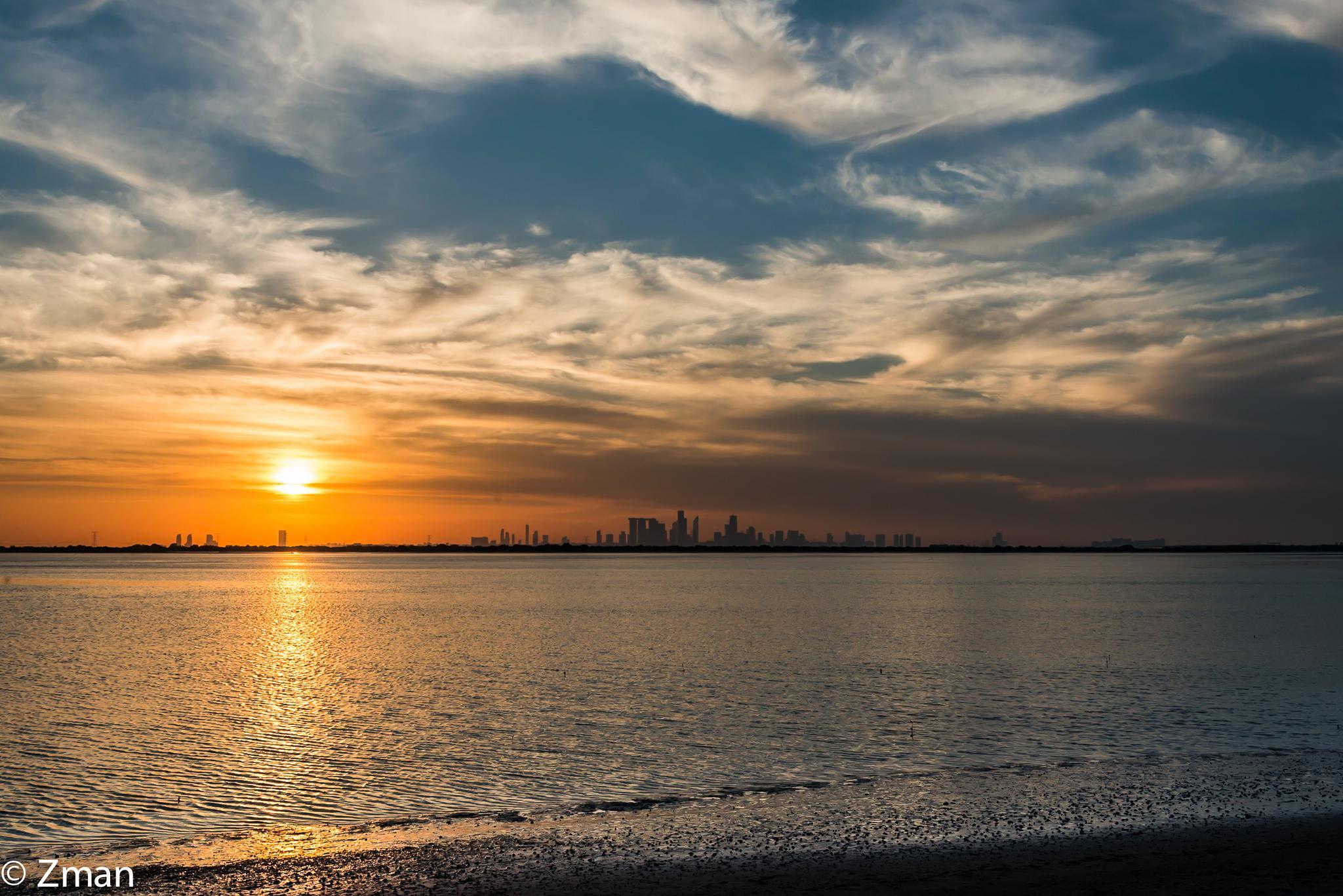 Sunset Over Al Reem Island by muhammad.nasser.963