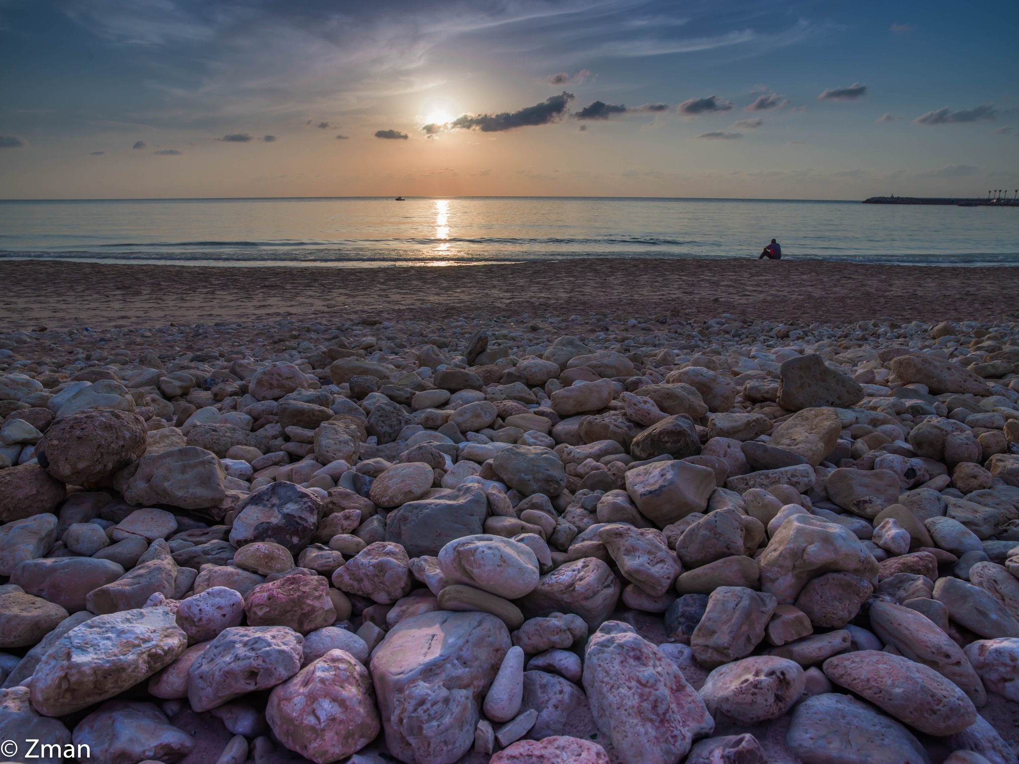 Pebbles and Sunset by muhammad.nasser.963