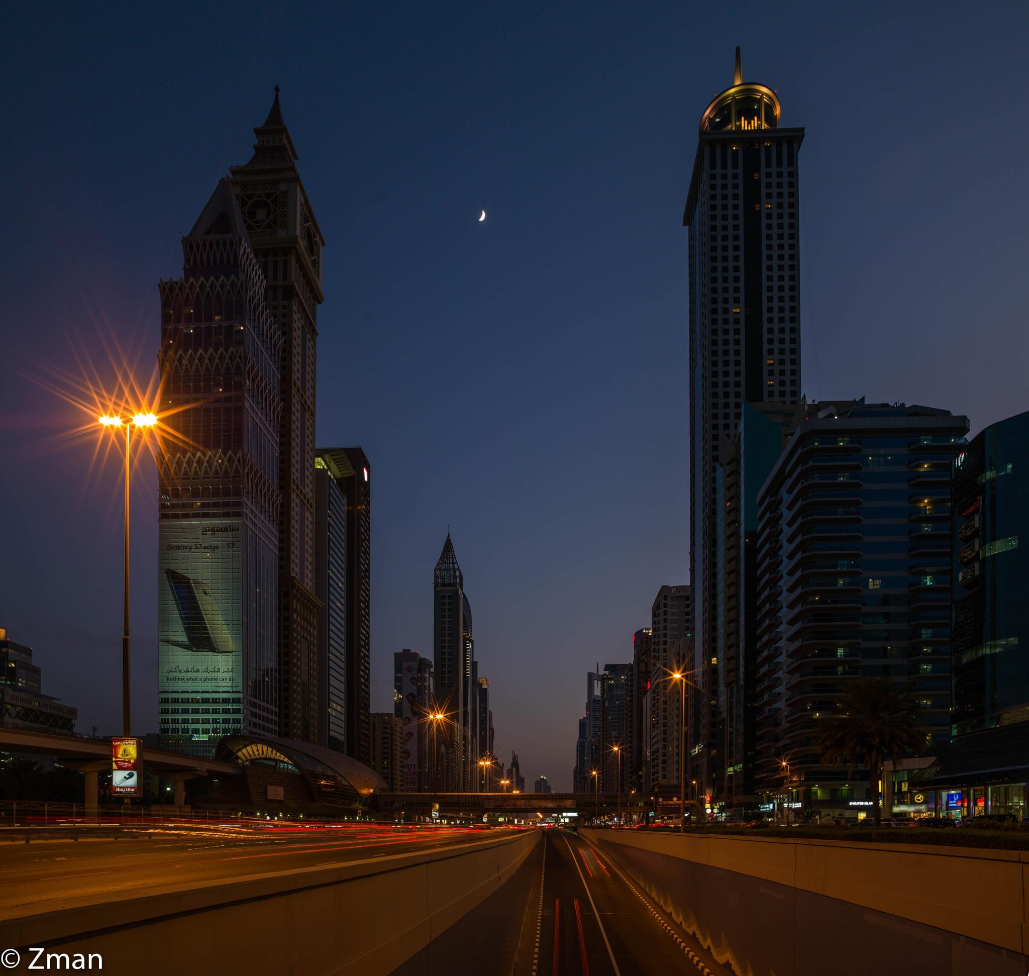 Shk Zayed Road by muhammad.nasser.963