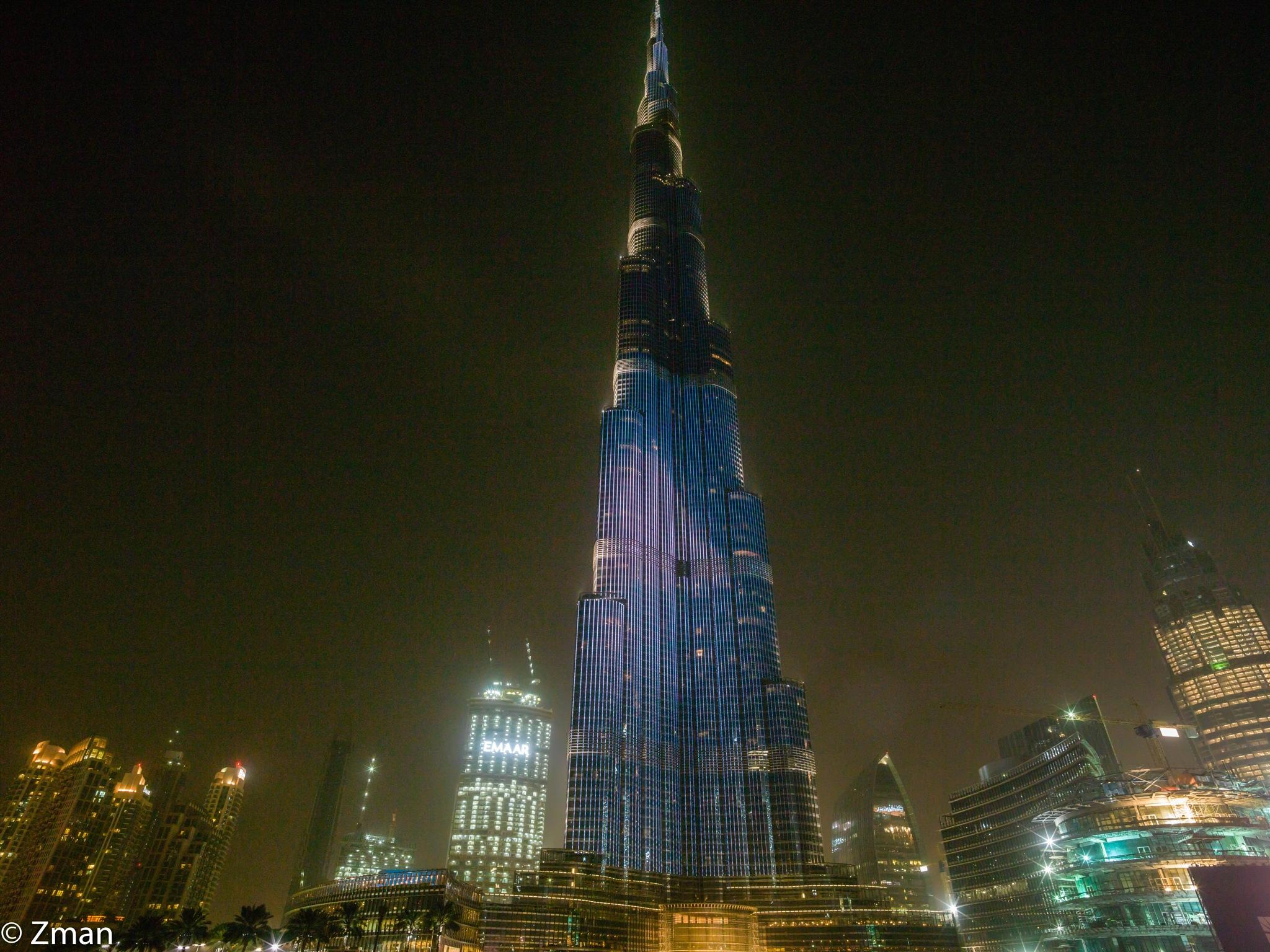Burj Khalifa in Blue by muhammad.nasser.963