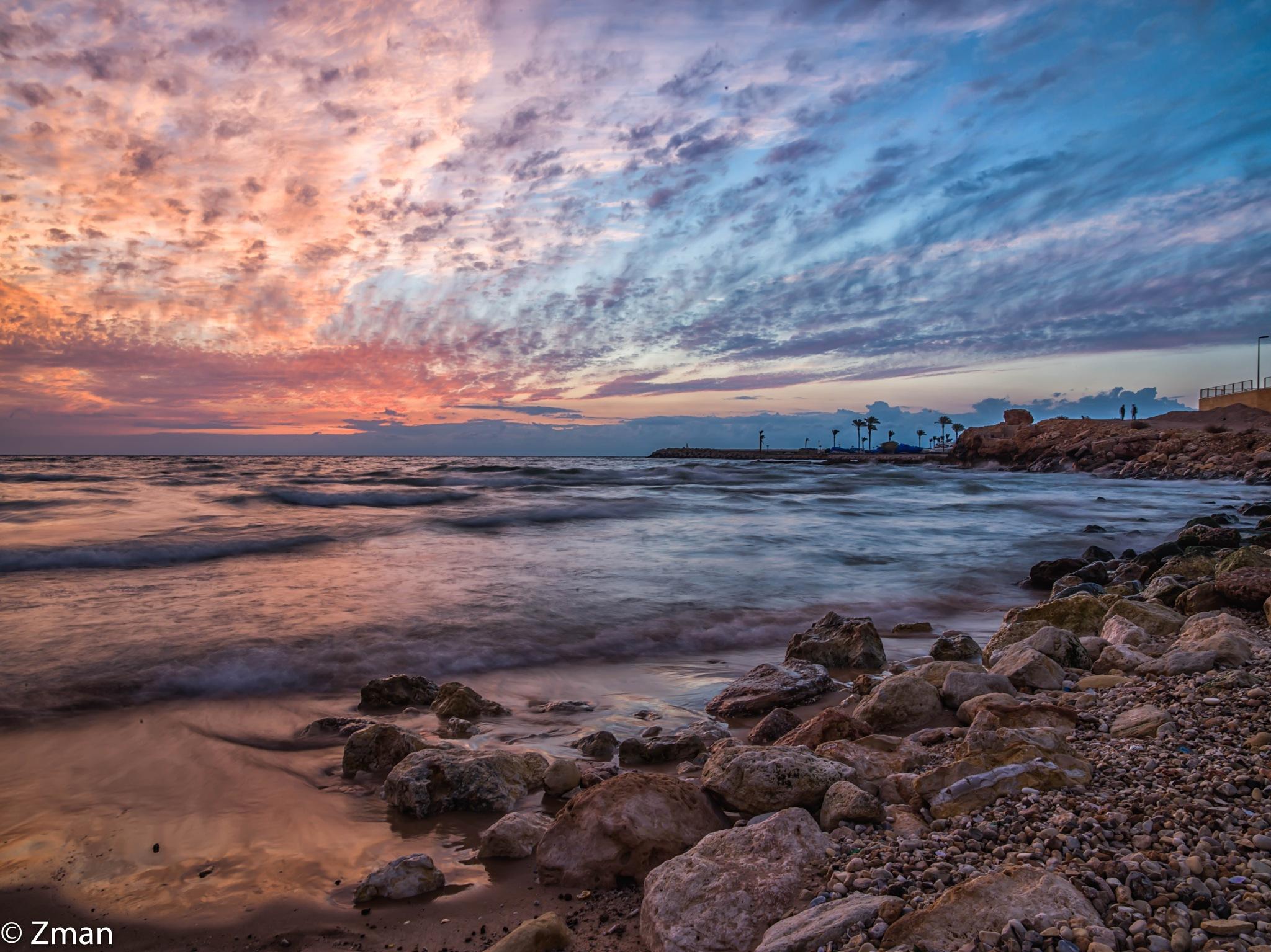 Sunset ,Sea and Rocks by muhammad.nasser.963