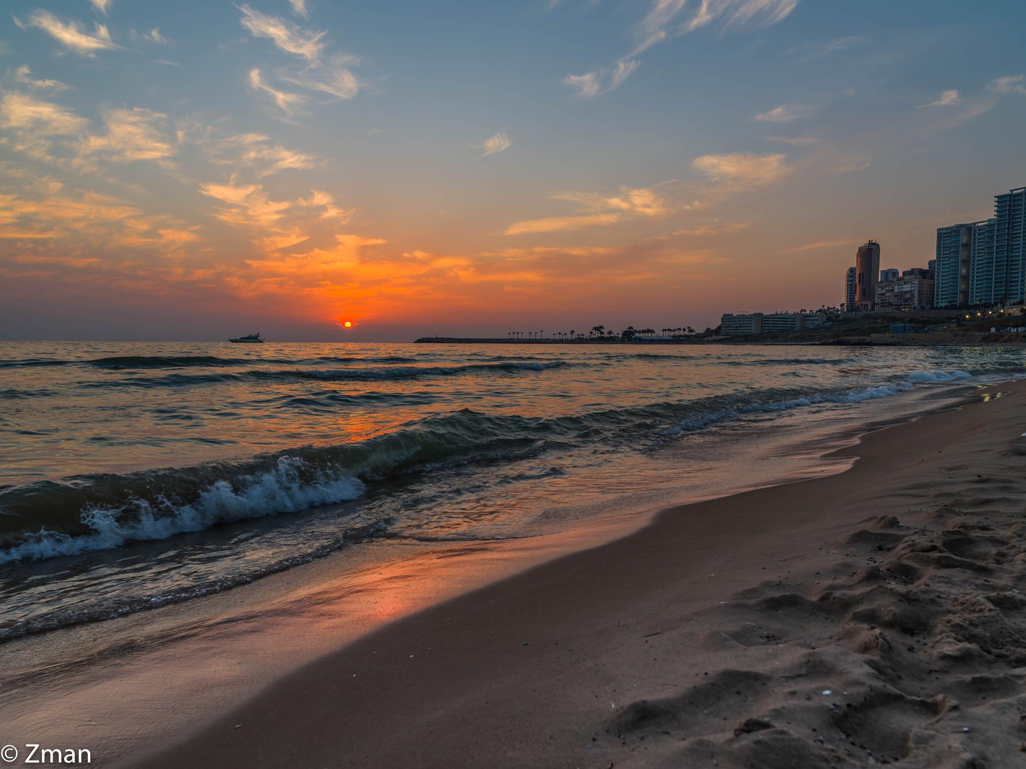 Sunset and White Sands Beach by muhammad.nasser.963