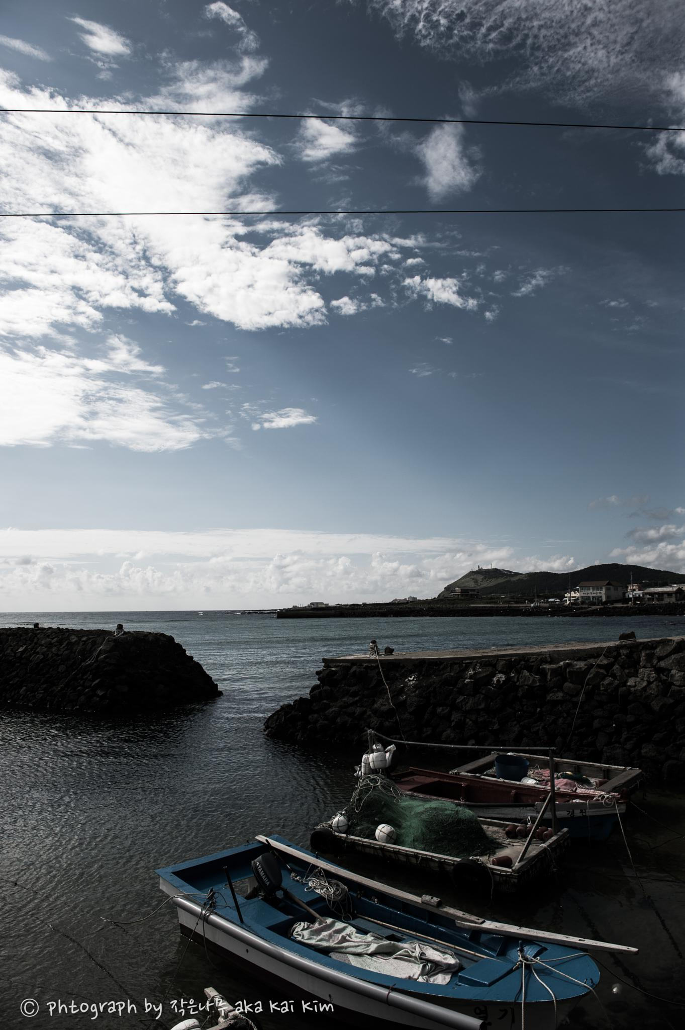 east side unknown small port in Jeju island by Kai Kim