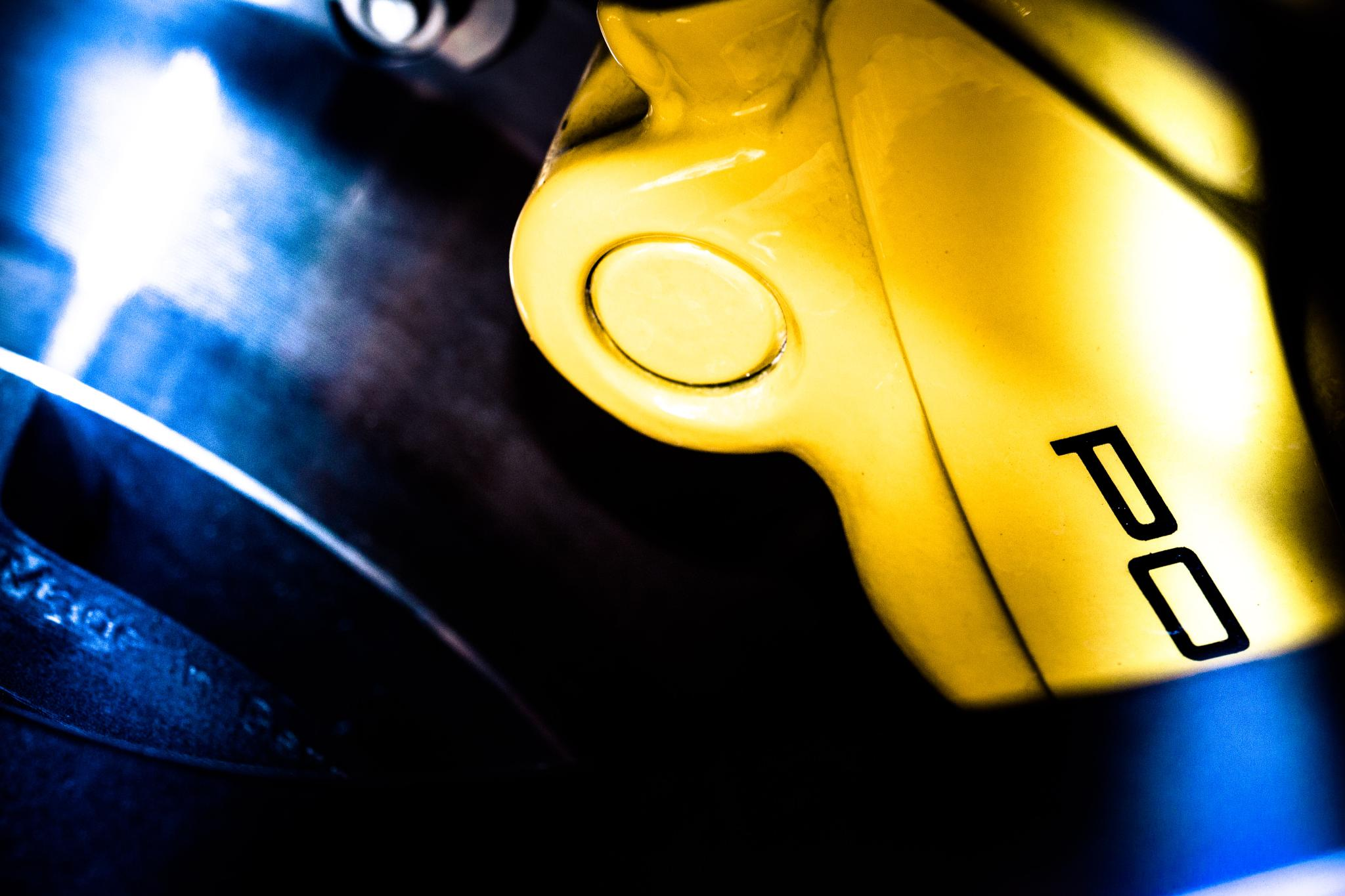 Photo in Random #po #porsche #disc brake caliper #detail #macro #abstract #vehicle