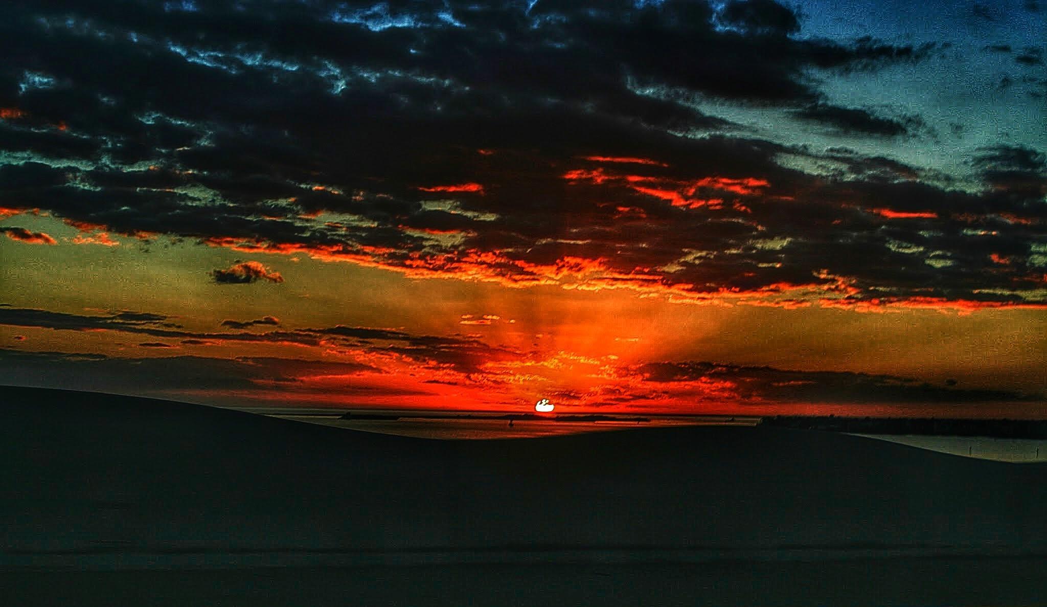 Causeway Sunset by drewk
