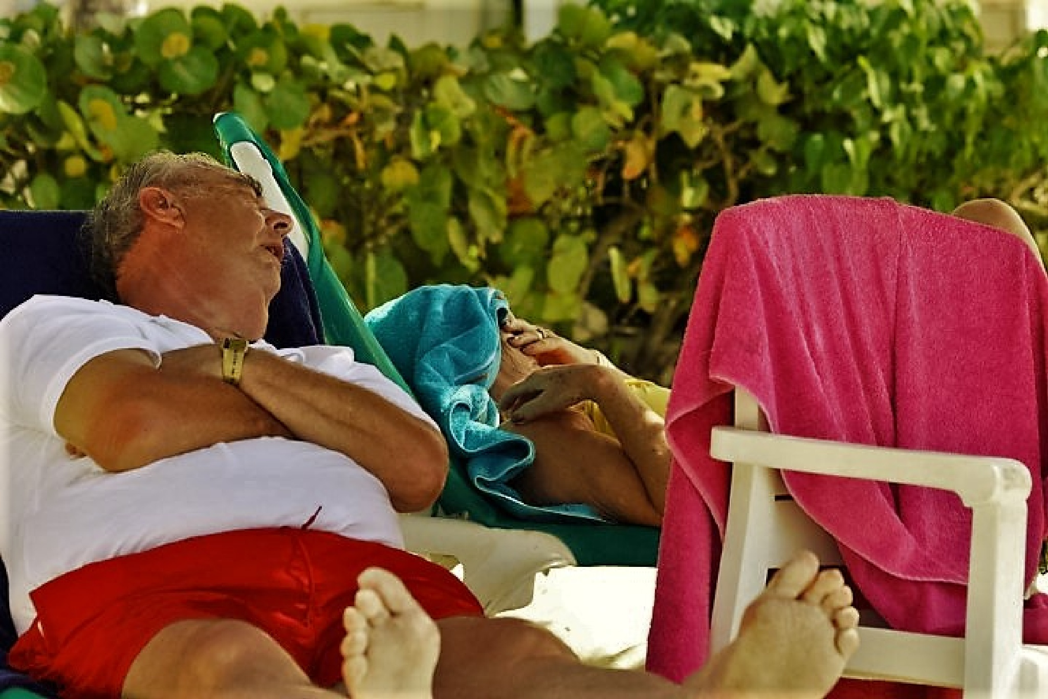Napping seniors by Whymilikethis