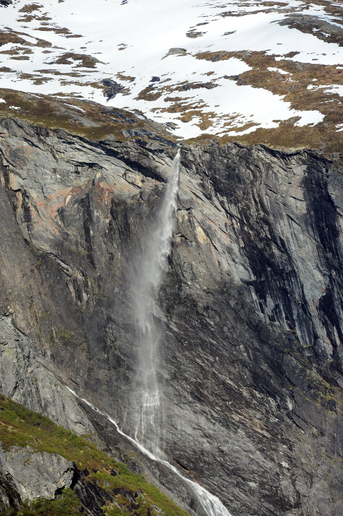 Photo in Nature #waterfall #norway #norge #norgesarkivet #mountain #mountains