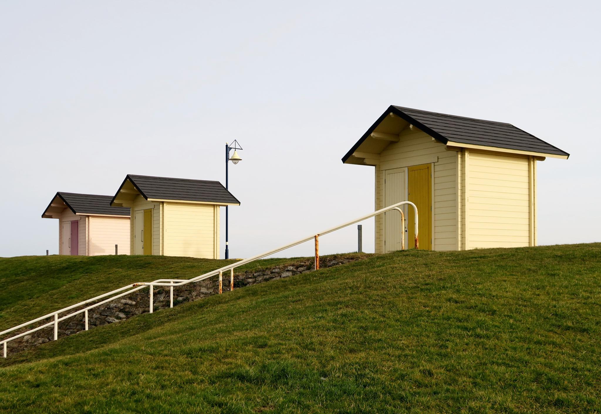 beach huts by sandragillian.white