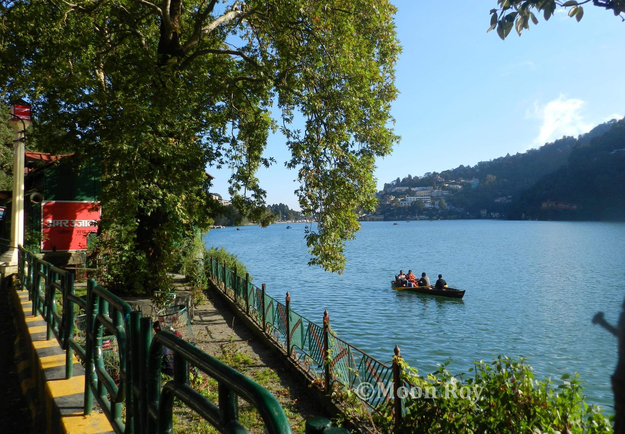Boating in Naini Lake - Nainital, India by Moon Roy