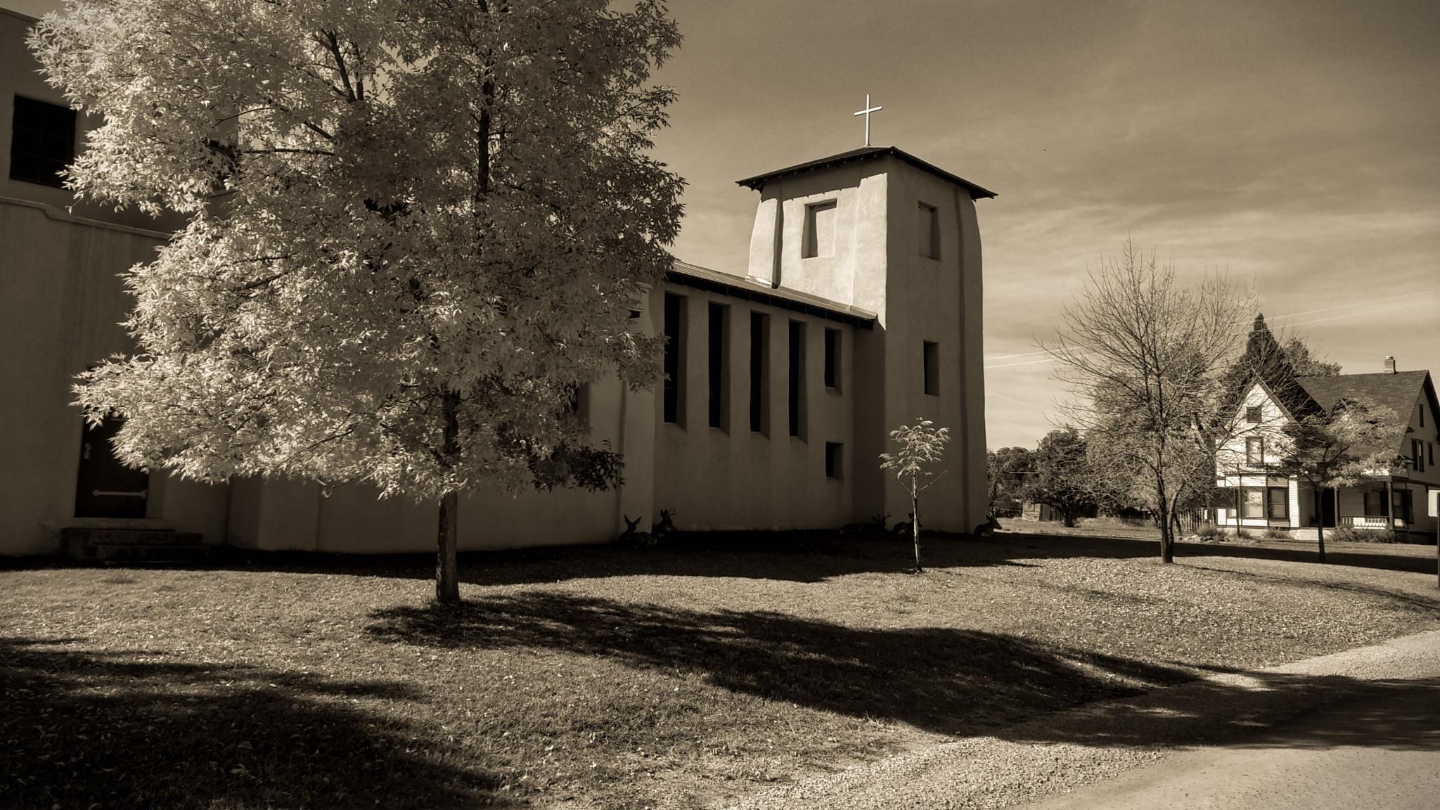 Local Church - La Veta, Co by Lori A. Utley