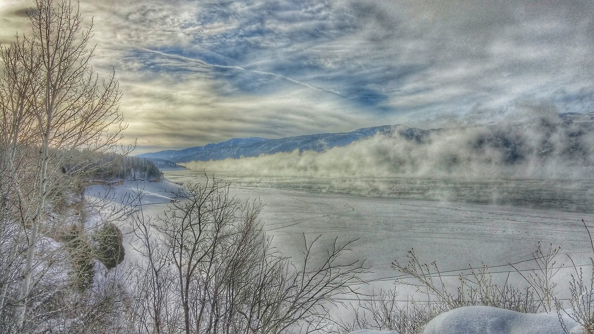 Frozen December- Snake River by Lori A. Utley