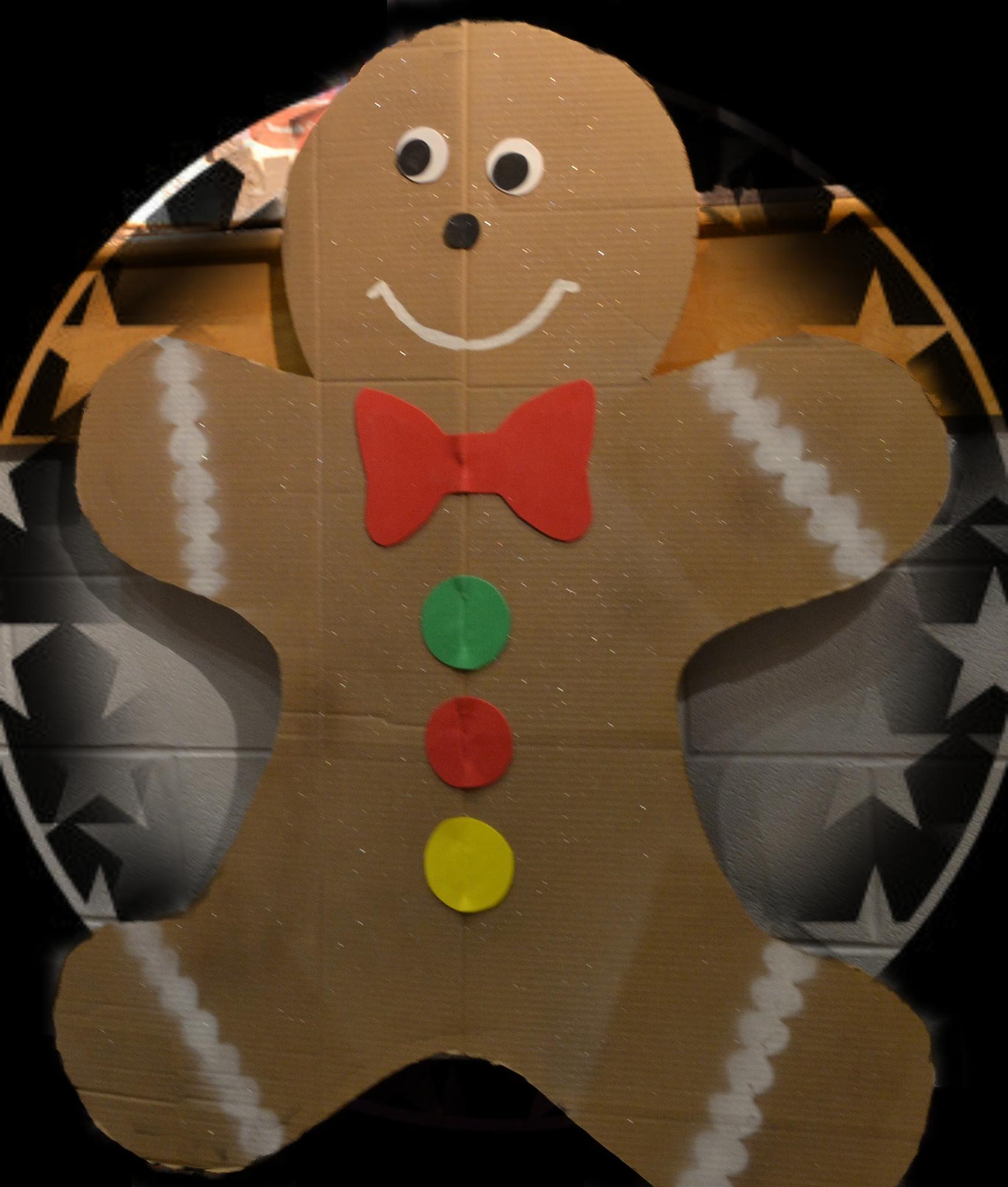 Cardboard Ginger Bread Man by lindandarrell