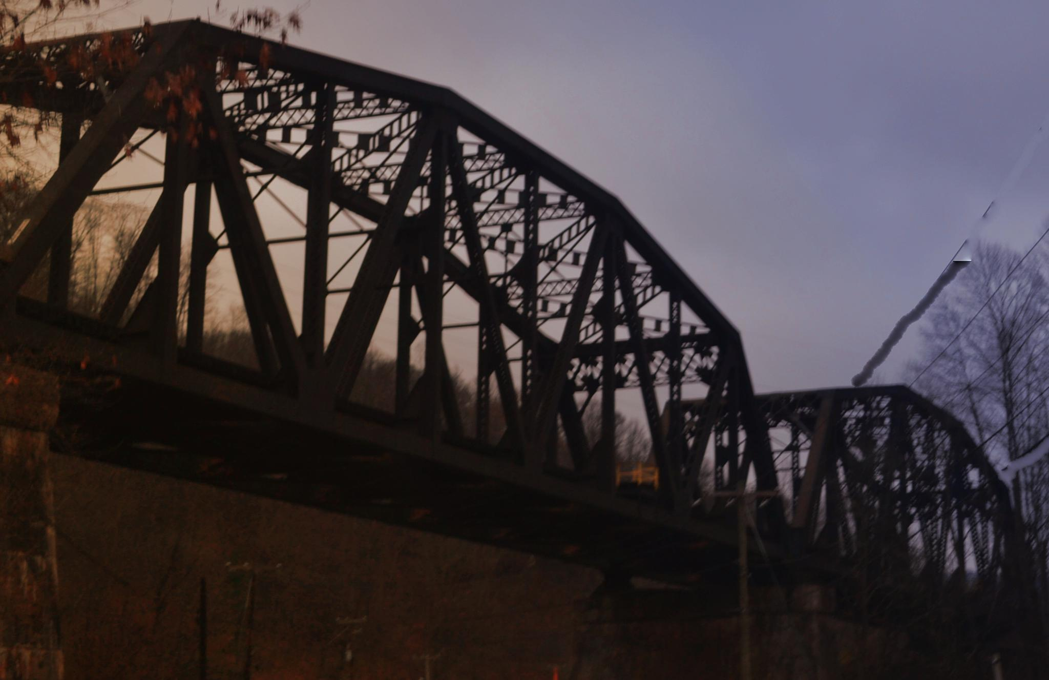 Train Overpass by lindandarrell