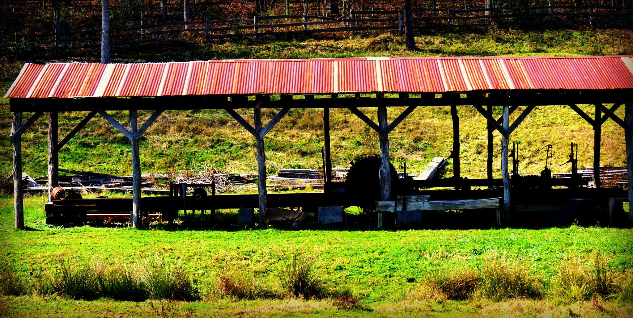 Sawmill at the Old Farm by lindandarrell