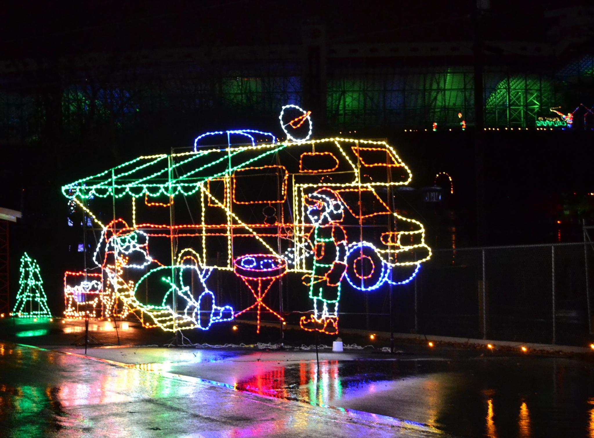 RV in Lights by lindandarrell
