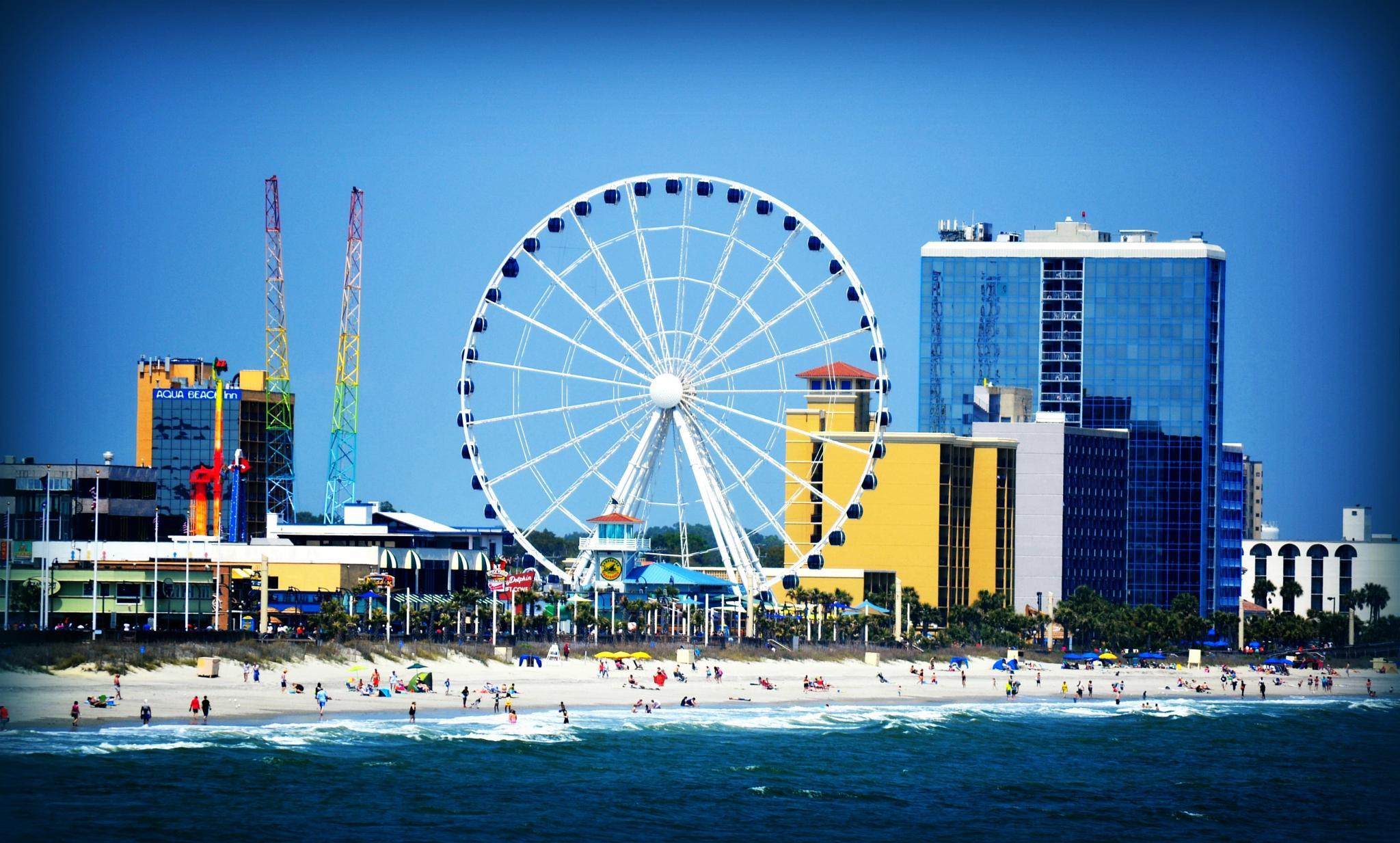 Myrtle Beach, SC Sky Wheel by lindandarrell
