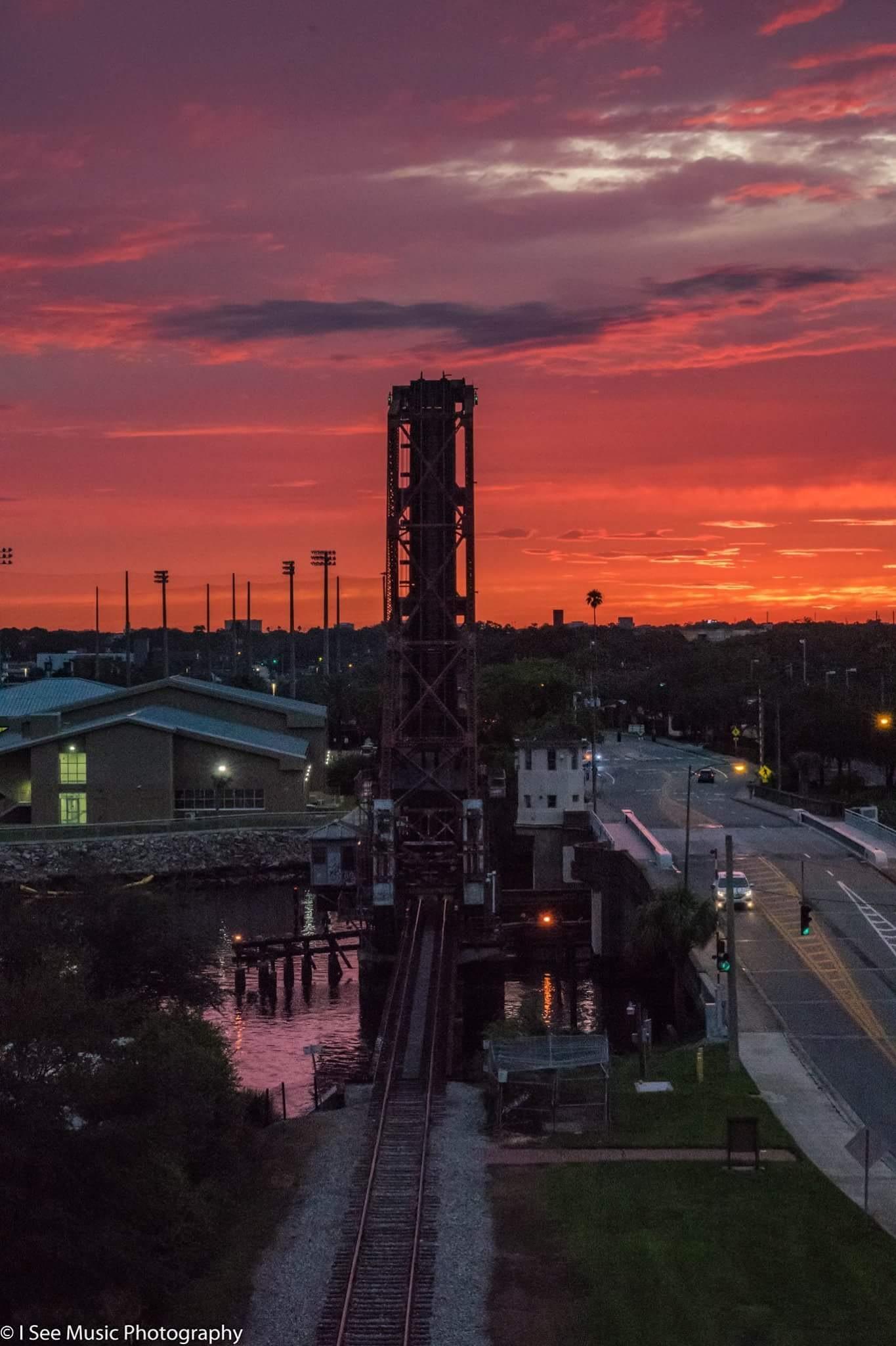 Cass St bridge at sunset by khristyp
