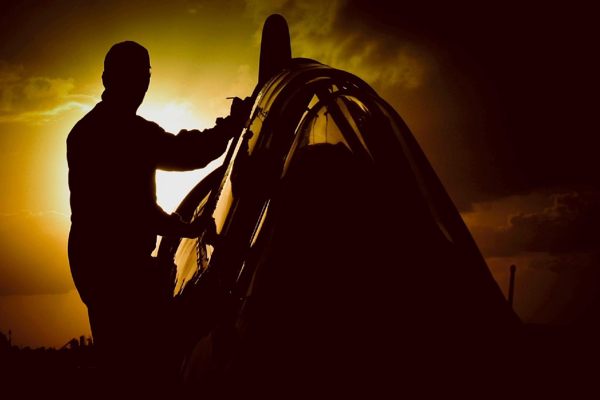 Air Show Prep by Mitch Kloorfain