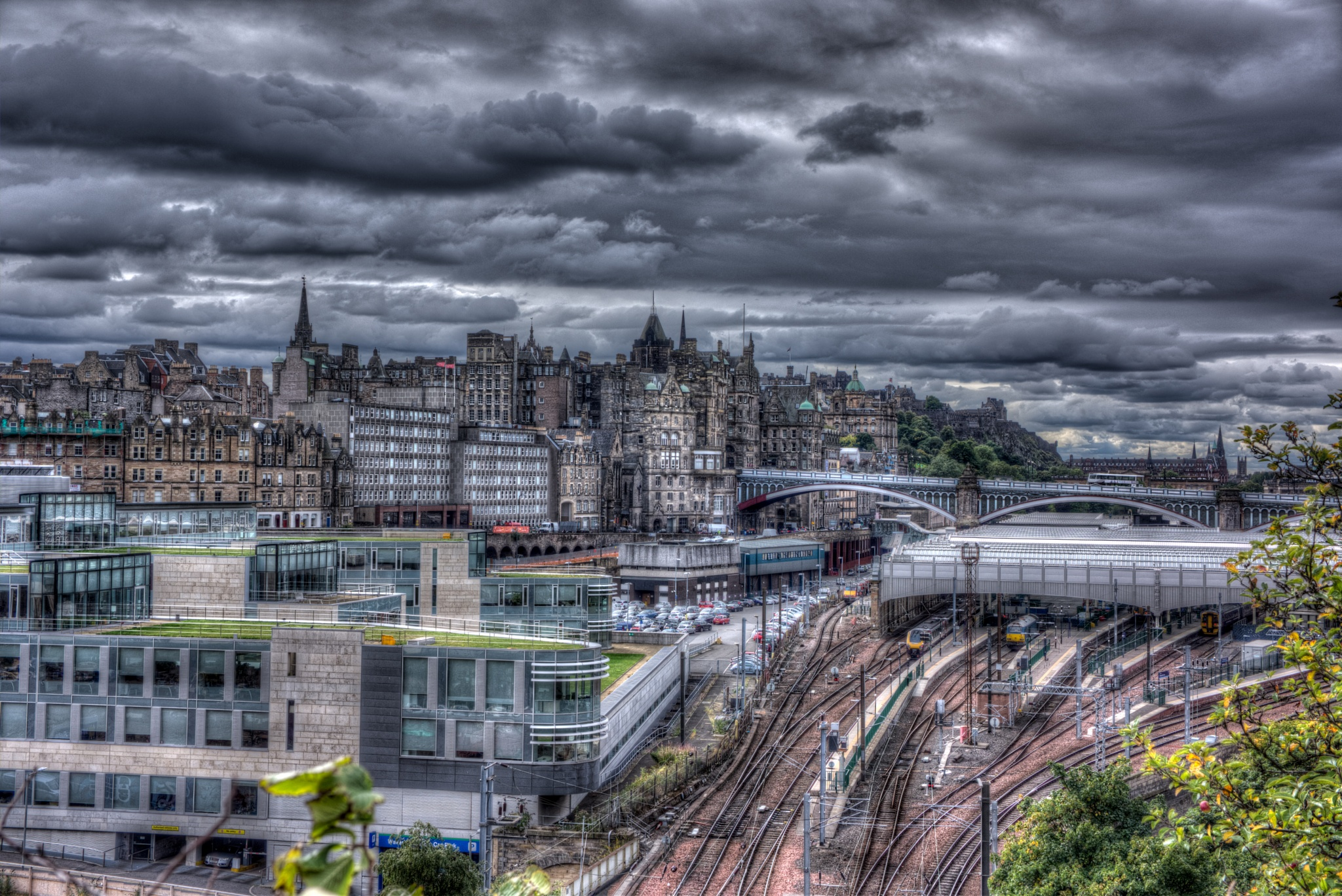Waverley Station and Edinburgh's Old Town by lawson mcculloch