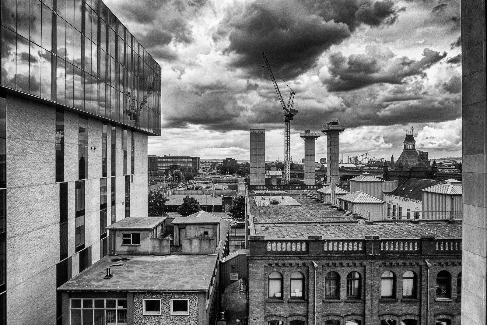 Stormy over Belfast by Iam Burn