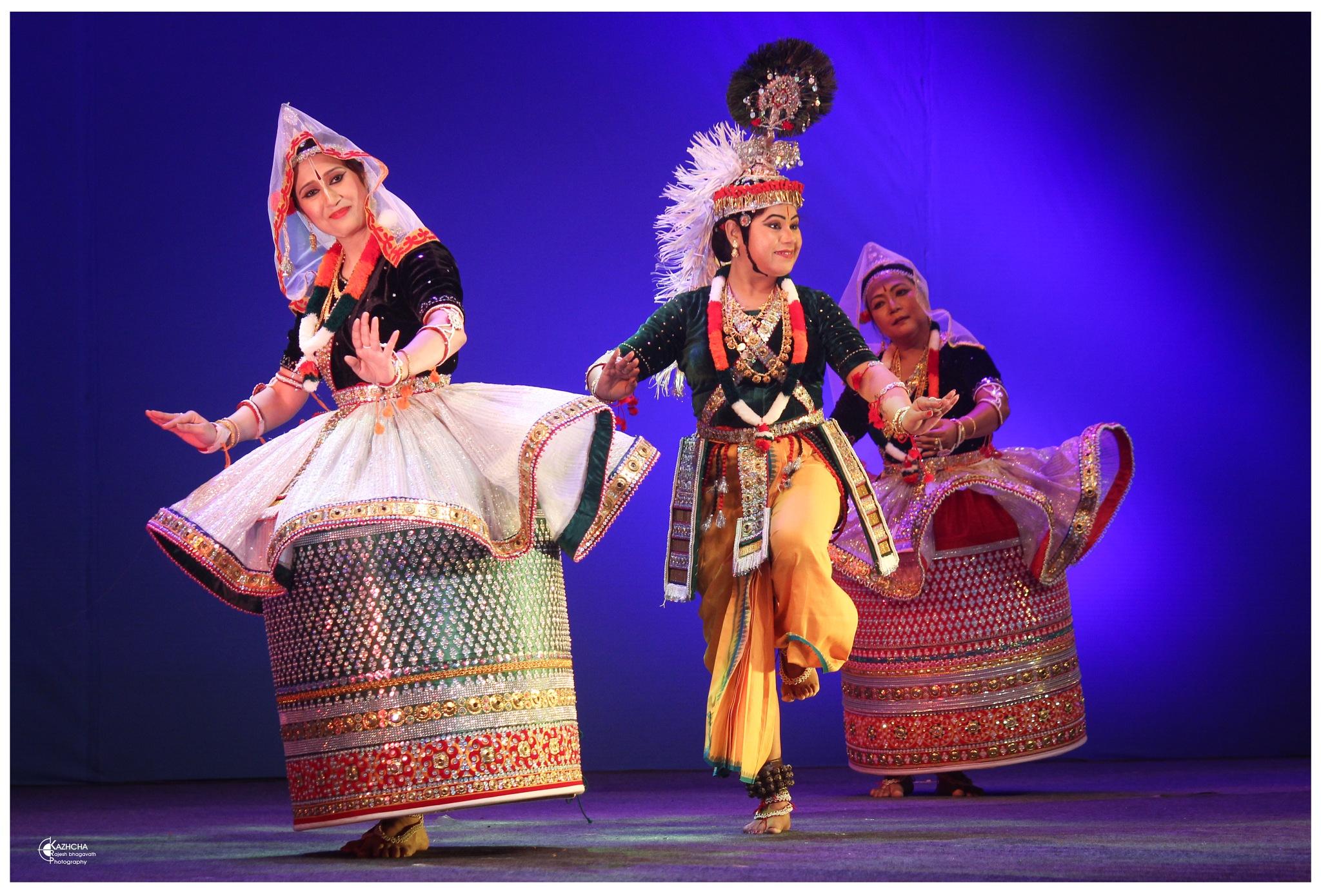 Manipuri dance by  Rajesh B R Bhagavath