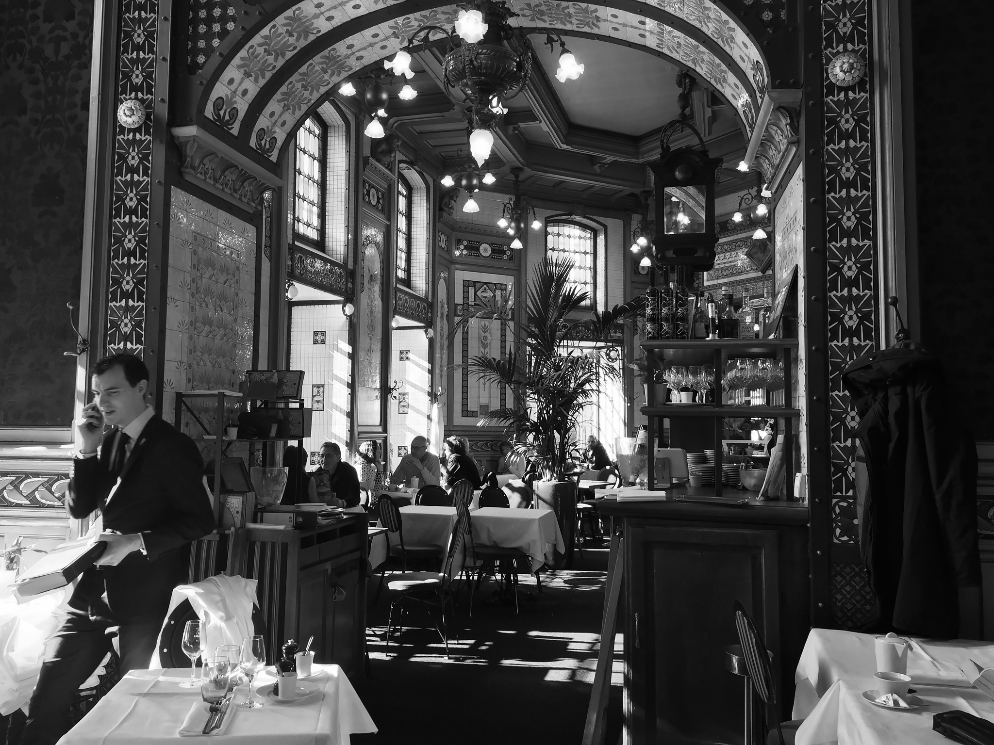 Photo in Black and White #cafe #coffee #coffeehouse #nantes #restaurant #travel