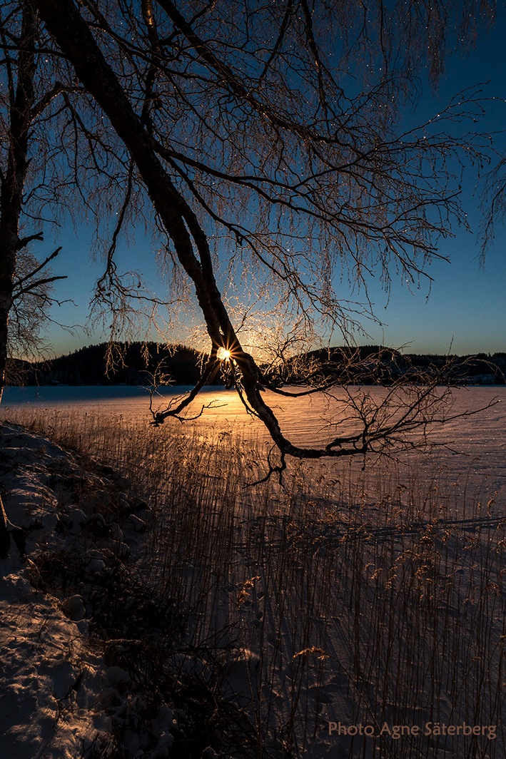 Sunrise at the lake by Agne Säterberg